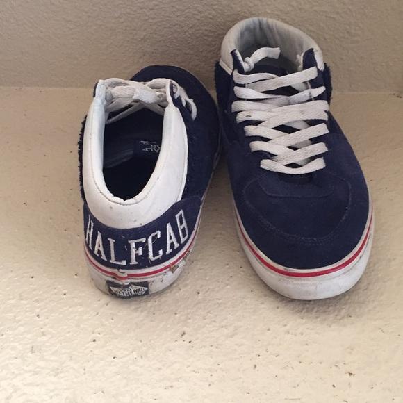 8d677029c8 Vans Pro halfcab varsity suede sneakers size 8. M 5aae9186d39ca238cda7b135
